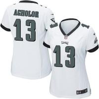 Women's Nike Philadelphia Eagles #13 Nelson Agholor White Stitched NFL New Elite Jersey
