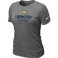 Women's Nike San Diego Chargers Critical Victory NFL T-Shirt Dark Grey