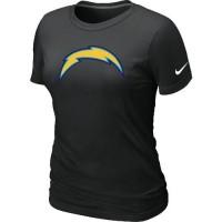 Women's Nike San Diego Chargers Logo NFL T-Shirt Black