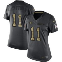 Women's Nike San Francisco 49ers #11 Quinton Patton Anthracite Stitched NFL Limited 2016 Salute to Service Jersey