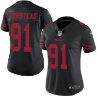 Women's Nike San Francisco 49ers #91 Arik Armstead Black Stitched NFL Limited Rush Jersey