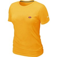 Women's Nike San Francisco 49ers Chest Embroidered Logo T-Shirt Yellow