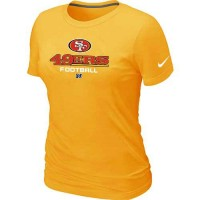 Women's Nike San Francisco 49ers Critical Victory NFL T-Shirt Yellow