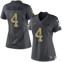 Women's Nike Seattle Seahawks #4 Steven Hauschka Anthracite Stitched NFL Limited 2016 Salute to Service Jersey