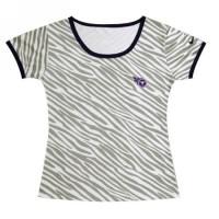 Women's Nike Tennessee Titans Chest Embroidered Logo Zebra Stripes T-shirt