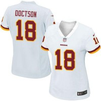 Women's Nike Washington Redskins #18 Josh Doctson White Stitched NFL Elite Jersey