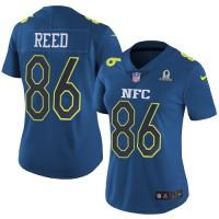 Women's Nike Washington Redskins #86 Jordan Reed Navy Stitched NFL Limited NFC 2017 Pro Bowl Jersey