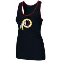Women's Nike Washington Redskins Big Logo Tri-Blend Racerback Stretch Tank Top Black