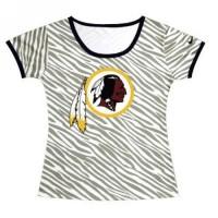 Women's Washington Redskins Sideline Legend Authentic Logo Zebra Stripes T-shirt