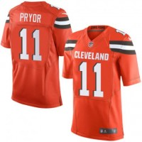 Youth Cleveland Browns #11 Terrelle Pryor Orange Stitched NFL Nike Limited Jersey