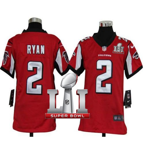 Youth Nike Atlanta Falcons #2 Matt Ryan Red Team Color Super Bowl LI  hot sale 4r5SJ0H5