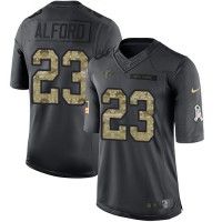Youth Nike Atlanta Falcons #23 Robert Alford Black Stitched NFL Limited 2016 Salute to Service Jersey