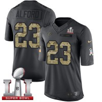 Youth Nike Atlanta Falcons #23 Robert Alford Black Super Bowl LI 51 Stitched NFL Limited 2016 Salute to Service Jersey
