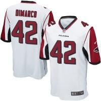 Youth Nike Atlanta Falcons #42 Patrick DiMarco White Stitched NFL Elite Jersey