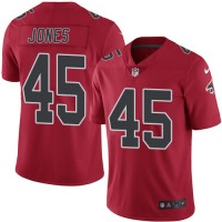 Youth Nike Atlanta Falcons #45 Deion Jones Red Stitched NFL Limited Rush Jersey
