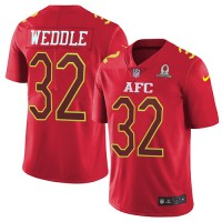 Youth Nike Baltimore Ravens #32 Eric Weddle Red Stitched NFL Limited AFC 2017 Pro Bowl Jersey