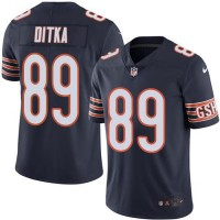 Youth Nike Chicago Bears #89 Mike Ditka Navy Blue Stitched NFL Limited Rush Jersey