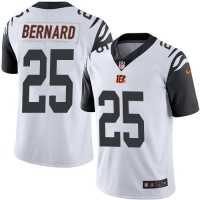 Youth Nike Cincinnati Bengals #25 Giovani Bernard White Stitched NFL Limited Rush Jersey
