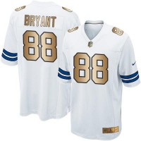 Youth Nike Dallas Cowboys #88 Dez Bryant White Stitched NFL Elite Gold Jersey