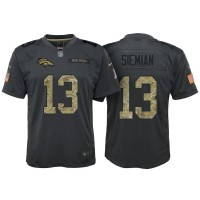 Youth Nike Denver Broncos #13 Trevor Siemian Anthracite Stitched NFL Limited 2016 Salute to Service Jersey