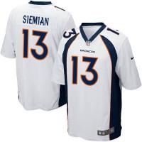 Youth Nike Denver Broncos #13 Trevor Siemian White Stitched NFL New Elite Jersey