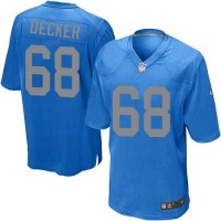 Youth Nike Detroit Lions #68 Taylor Decker Elite Blue Alternate NFL Jersey