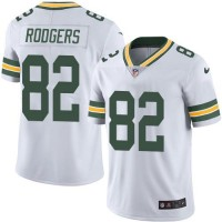Youth Nike Green Bay Packers #82 Richard Rodgers White Stitched NFL Limited Rush Jersey