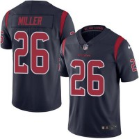 Youth Nike Houston Texans #26 Lamar Miller Navy Blue Stitched NFL Limited Rush Jersey