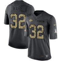 Youth Nike Kansas City Chiefs #32 Spencer Ware Anthracite Stitched NFL Limited 2016 Salute to Service Jersey