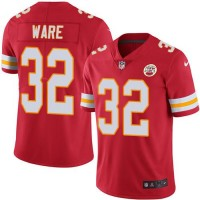 Youth Nike Kansas City Chiefs #32 Spencer Ware Red Stitched NFL Limited Rush Jersey