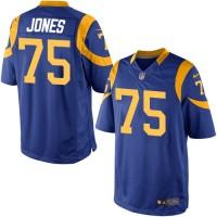 Youth Nike Los Angeles Rams #75 Deacon Jones Limited Royal Blue Alternate NFL Jersey