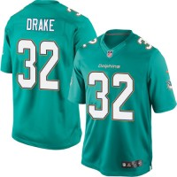 Youth Nike Miami Dolphins #32 Kenyan Drake Limited Aqua Green Team Color NFL Jersey