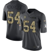 Youth Nike Minnesota Vikings #54 Eric Kendricks Anthracite Stitched NFL Limited 2016 Salute To Service Jersey