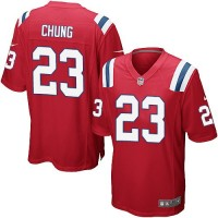 Youth Nike New England Patriots #23 Patrick Chung Red Alternate Stitched NFL NFL Elite Jersey