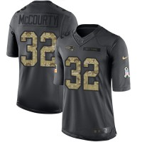 Youth Nike New England Patriots #32 Devin McCourty Black Stitched NFL Limited 2016 Salute to Service Jersey