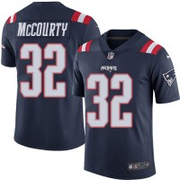 Youth Nike New England Patriots #32 Devin McCourty Navy Blue Stitched NFL Limited Rush Jersey