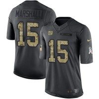 Youth Nike New York Giants #15 Brandon Marshall Black Stitched NFL Limited 2016 Salute to Service Jersey