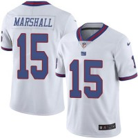 Youth Nike New York Giants #15 Brandon Marshall White Stitched NFL Limited Rush Jersey