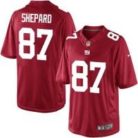 Youth Nike New York Giants #87 Sterling Shepard Elite Red Alternate NFL Jersey