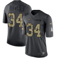 Youth Nike Seattle Seahawks #34 Thomas Rawls Anthracite Stitched NFL Limited 2016 Salute to Service Jersey