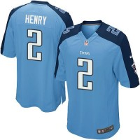 Youth Nike Tennessee Titans #2 Derrick Henry Light Blue Team Color Stitched NFL Elite Jersey