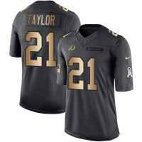 Youth Nike Washington Redskins #21 Sean Taylor Anthracite Stitched NFL Limited Gold Salute to Service Jersey.