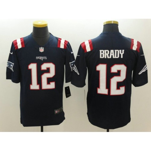 Men s New England Patriots  12 Tom Brady Nike Navy Color Rush Limited Jersey a61bb3e2a