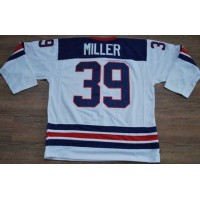 2010 Olympic Team USA #39 Ryan Miller Stitched White 1960 Throwback NHL Jersey