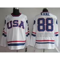 2010 Olympic Team USA #88 Patrick Kane Stitched White NHL Jersey