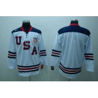 2010 Olympic Team USA Blank Stitched White 1960 Throwback NHL Jersey