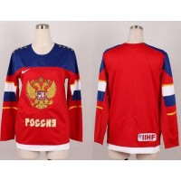 2014 Olympic Team Russia Blank Red Women's Stitched NHL Jersey