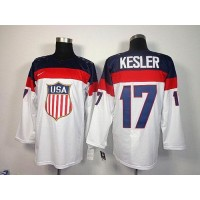 2014 Olympic Team USA #17 Ryan Kesler White Stitched NHL Jersey