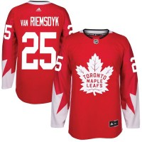Youth Toronto Maple Leafs #25 James Van Riemsdyk Red Alternate Stitched NHL Jersey