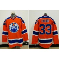 Edmonton Oilers #33 Cam Talbot Orange Alternate Stitched NHL Jersey